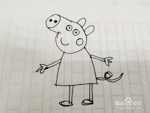 小猪佩奇怎么画 怎么用水笔画小猪佩奇