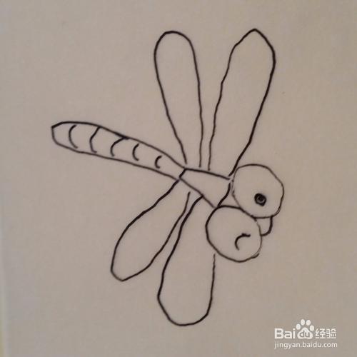 儿童简笔画爱笑的小蜻蜓