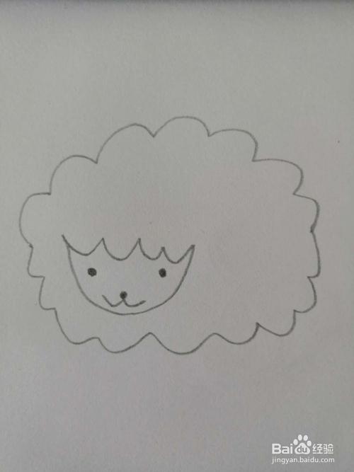 如何画小绵羊的简笔画