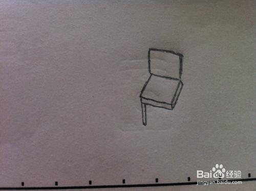 桌子和椅子怎么画 简笔画