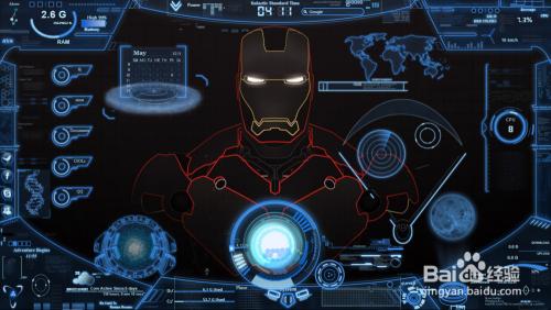 钢铁侠动态桌面壁纸_怎样制作钢铁侠的主题桌面-百度经验