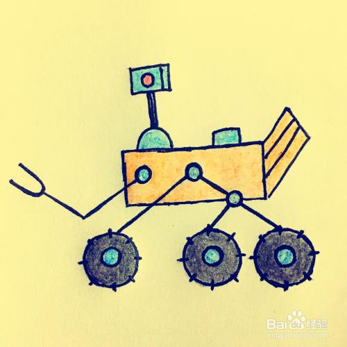 火星探测器简笔画怎么画