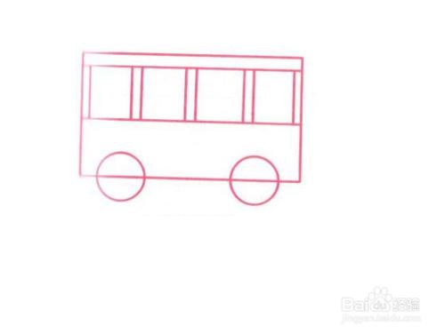 公共汽车简笔画分步图