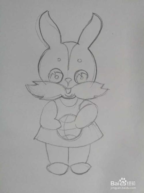 简笔画彩色小兔子的画法