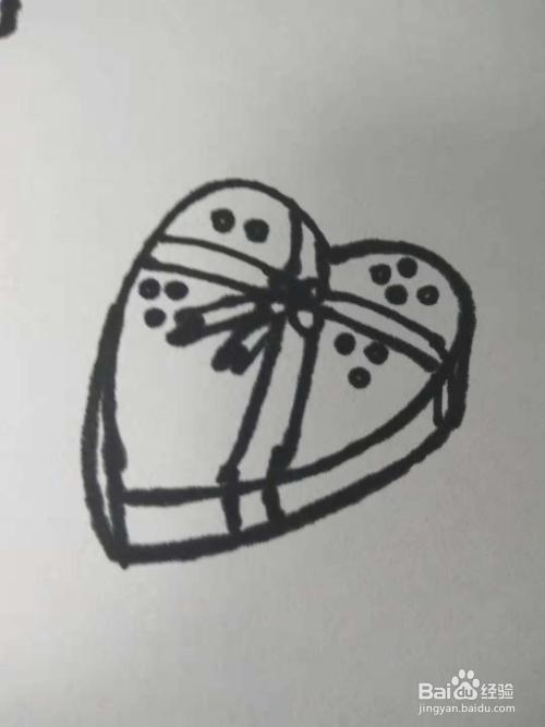 心形礼物盒的简笔画怎么画