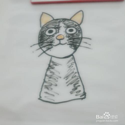 简笔画六只猫的画法