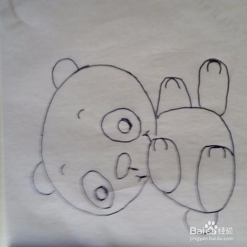 可爱的小熊简笔画