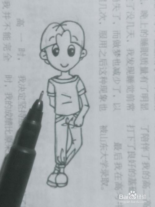 20简笔画短发小男孩