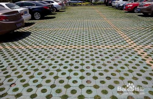 停车草坪砖的做法