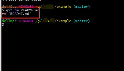 怎样从本地删除git远程仓库里面的文件