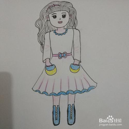 学画简笔画7 Q版女孩 少女 的画法