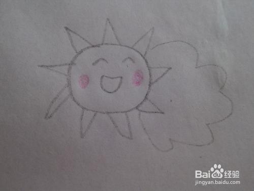 太阳儿童简笔画
