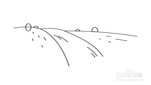 乡村河流简笔画步骤