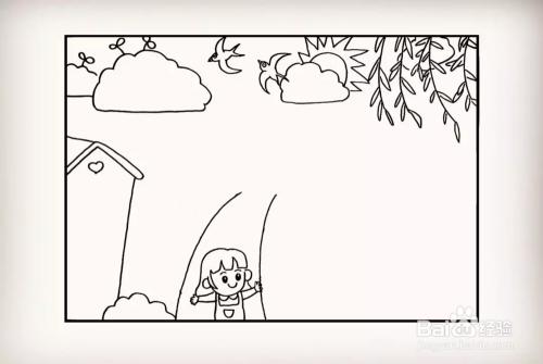 简笔画怎么画清明主题的手抄报