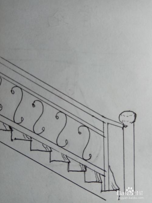 怎样画儿童简笔画楼梯扶手