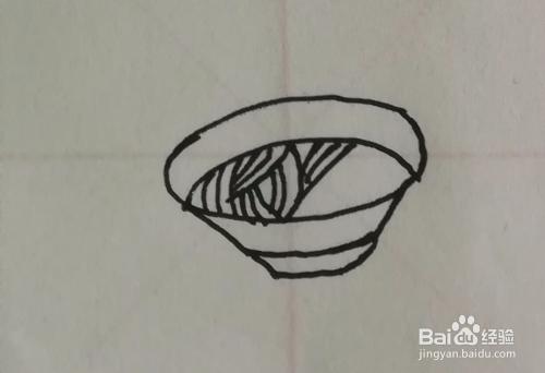 一碗面简笔画怎么画,步骤图一看就会