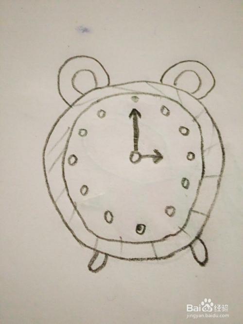 闹钟的简笔画法