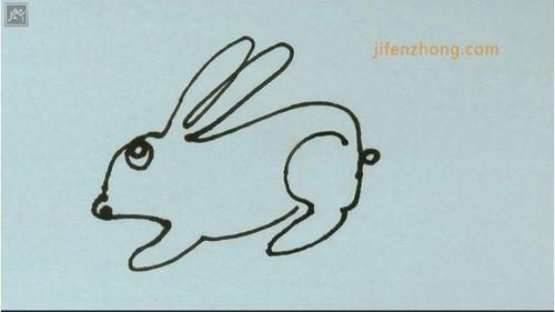 一笔画之画兔子