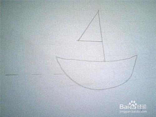 简笔画小船的画法