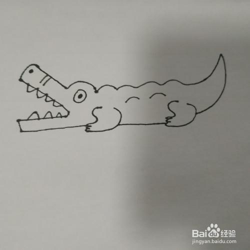 鳄鱼的简笔画怎么画