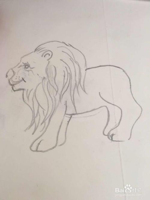 怎样画狮子的简笔画