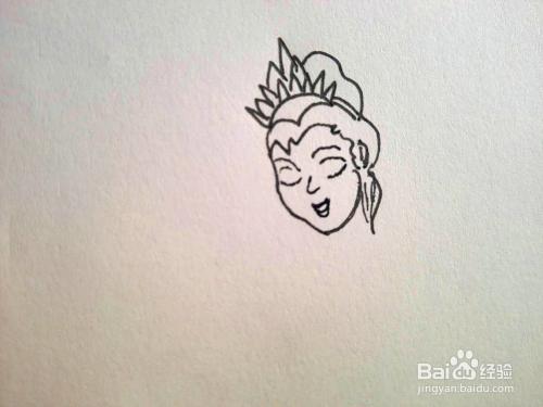 芭比公主的简笔画图片