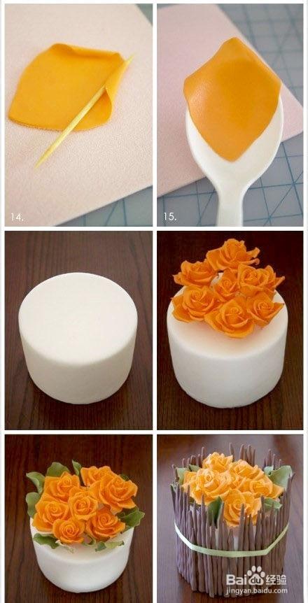 详细图解如何制作精致美丽的翻糖花朵