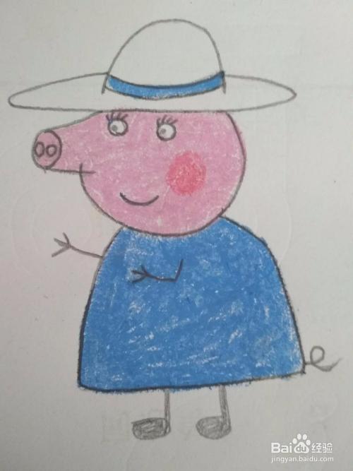 多妈简笔画小猪佩奇的猪奶奶