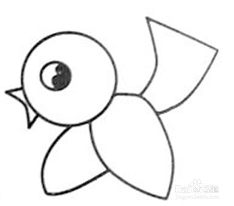 简笔画大全 小鸟的绘画过程