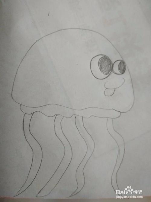 多妈简笔画水母的画法