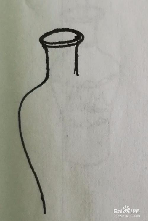 花瓶插花怎么画简笔画,画法步骤图直观
