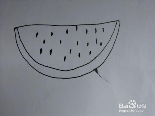 儿童简笔画西瓜的画法