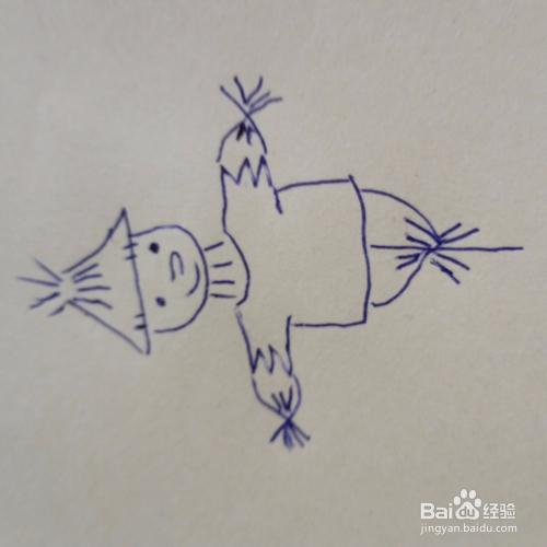 儿童简笔画稻草人怎么画