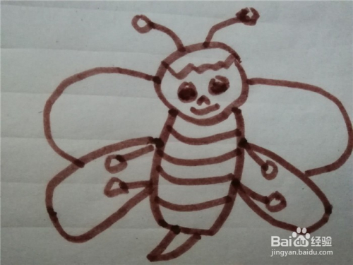 怎么样用简笔画画画小蜜蜂