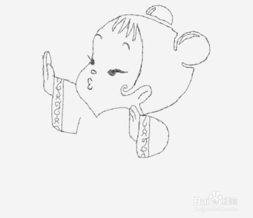 简笔画年画娃娃是怎么画的