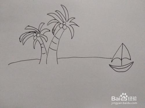 儿童大海的简笔画步骤