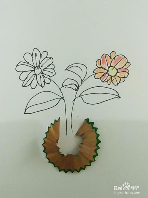 简笔画 创意花朵