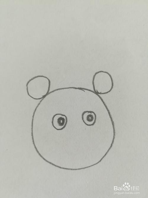 小熊猫的简笔画法
