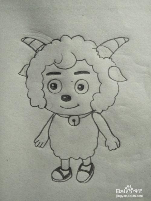 喜羊羊简笔画