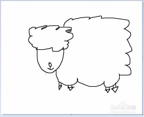 简笔画之小绵羊