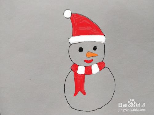 抖音中雪人的简单画法