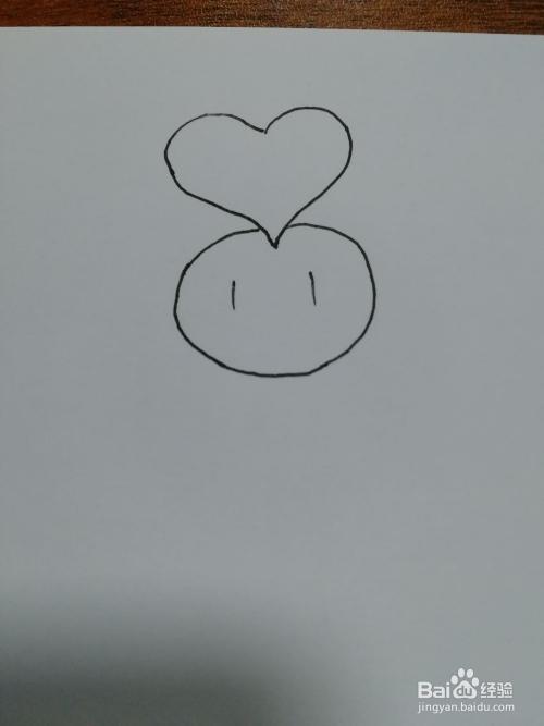 简笔画 28 举着爱心的小人