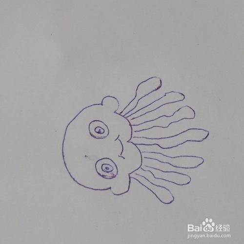 小水母简笔画