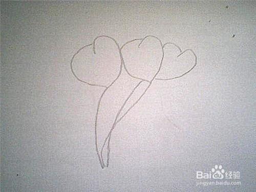 简笔画心形气球