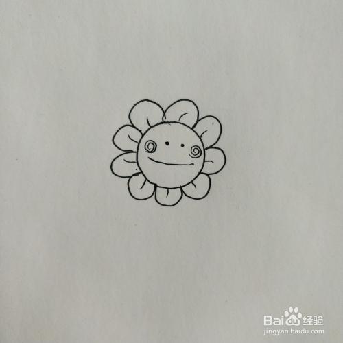 幼儿园简笔画 超级简单的花朵画法