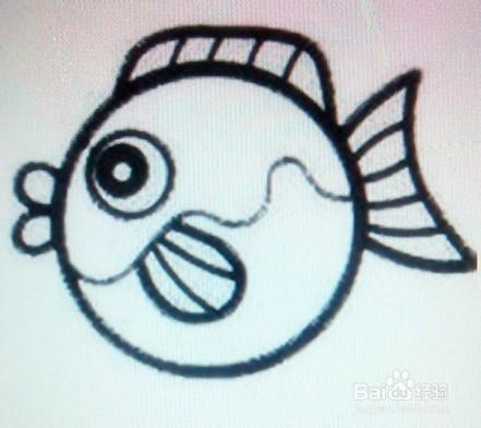 简笔画 金鱼