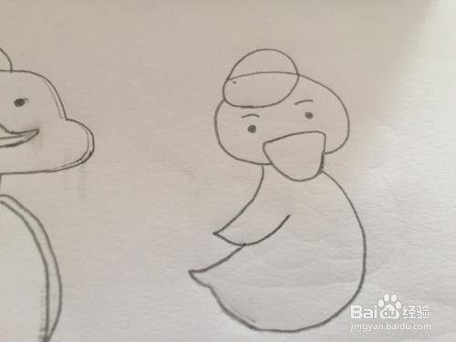 简笔画鸭子的绘画步骤