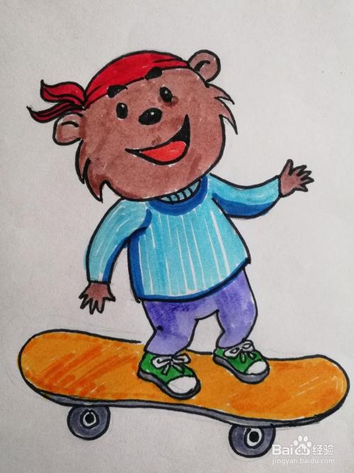 彩色简笔画小熊的画法