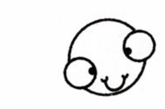 小蝌蚪简笔画画法