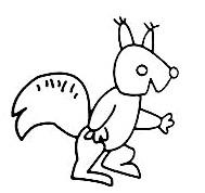 如何画简笔画 松鼠